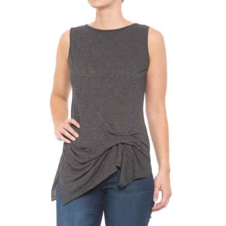 Michael Stars Pleated Tank Top (For Women) in Black - Closeouts