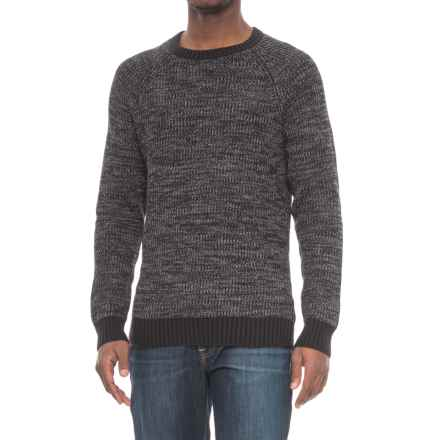 Michael Stars Ribbed Stitch Sweater (For Men) in Black/Heather Grey - Closeouts