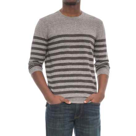 Michael Stars Striped Sweater - Crew Neck (For Men) in Heather Grey/Charcoal - Closeouts