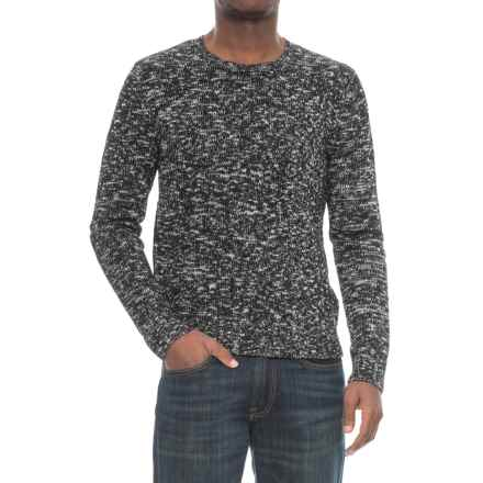 Michael Stars Suede Combo Sweater (For Men) in Grey/Black - Closeouts