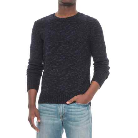 Michael Stars Suede Combo Sweater (For Men) in Navy/Black - Closeouts