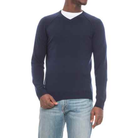 Michael Stars V-Neck Sweater (For Men) in Navy - Closeouts
