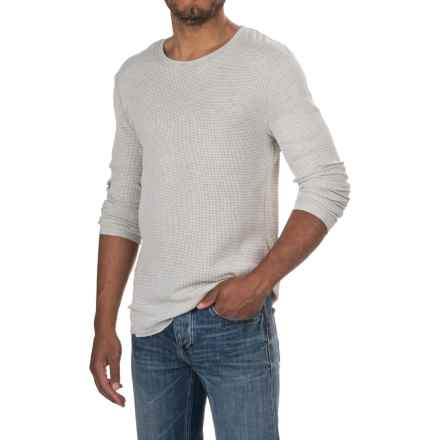 Michael Stars Waffle-Knit Shirt - Long Sleeve (For Men) in Heather Grey - Closeouts