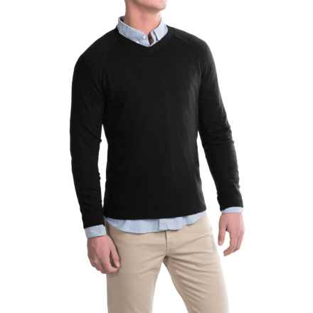 Michael Stars Wool-Modal Sweater - V-Neck (For Men) in Black - Closeouts