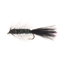 Micro Bugger Streamer Fly - Dozen in Black - Closeouts