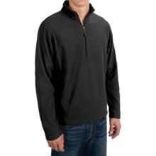 Microfleece Zip Neck Jacket (For Men) in Black - 2nds