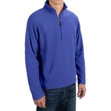 Microfleece Zip Neck Jacket (For Men) in Blue - 2nds