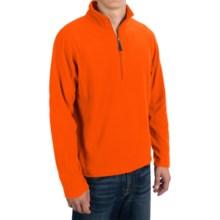 Microfleece Zip Neck Jacket (For Men) in Fluorescent Orange - 2nds