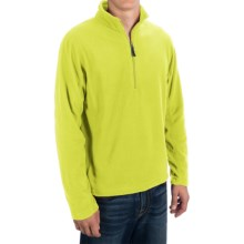 Microfleece Zip Neck Jacket (For Men) in Fluorescent Yellow - 2nds