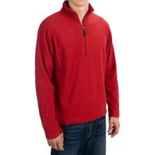 Microfleece Zip Neck Jacket (For Men) in Red - 2nds
