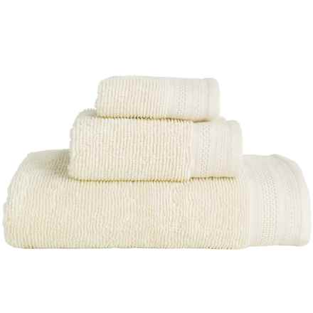 Microlush by Laura Hill Cotton Quick-Dry Towels - Set of 3 in Ivory - Overstock
