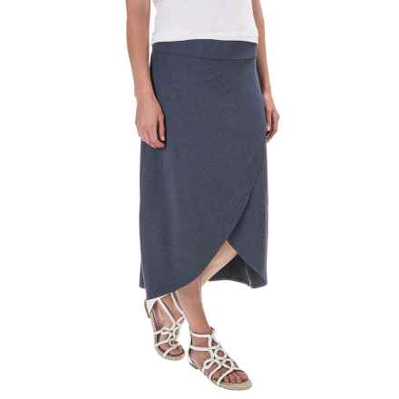 Midi Faux-Wrap Skirt (For Women) in Grey - 2nds
