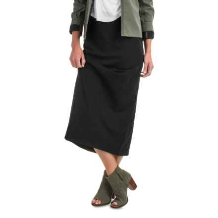 Midi Pencil Skirt (For Women) in Black - 2nds