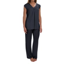 Midnight by Carole Hochman Core Modal Pajamas - Short Sleeve (For Women) in Midnight Blue - Overstock