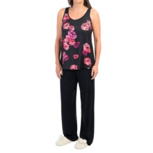 Midnight by Carole Hochman Floating Floral Pajamas - Modal, Short Sleeve (For Women) in Indigo Floral - Closeouts
