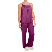 Midnight by Carole Hochman Looking For Love Pajamas - Modal, Sleeveless (For Women) in Plum - Closeouts