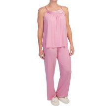 Midnight by Carole Hochman Looking For Love Pajamas - Modal, Sleeveless (For Women) in Rose Water - Closeouts