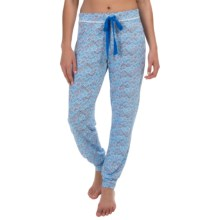 Midnight by Carole Hochman Rayon Jogger Pajama Pants (For Women) in Blue Ditsy Print - Overstock