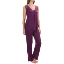 Midnight by Carole Hochman Rayon-Knit Pajamas - Sleeveless (For Women) in Merlot - Overstock