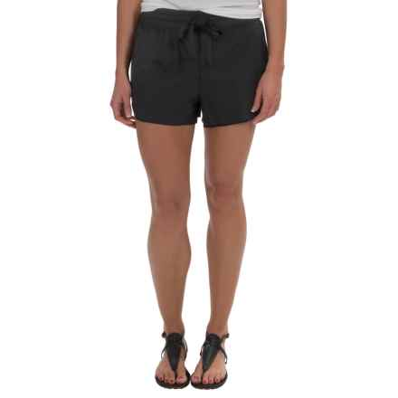 Midnight by Carole Hochman Woven Lounge Shorts (For Women) in Black - Overstock