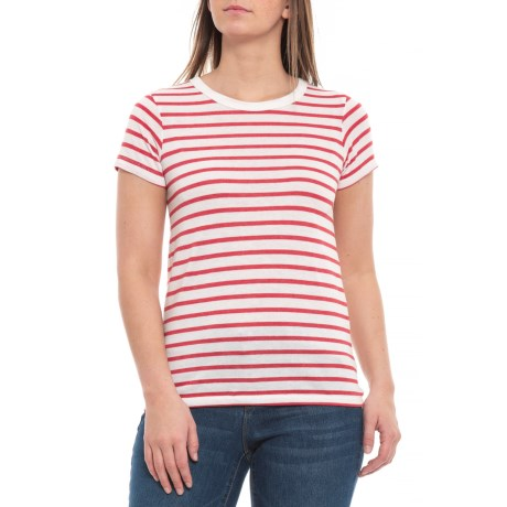 Midnight/Red Riviera Stripe Yarn Dye T-Shirt - Short Sleeve (For Women)