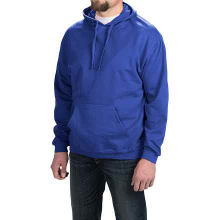 Midweight Hoodie Sweatshirt (For Men and Women) in Medium Blue - Closeouts