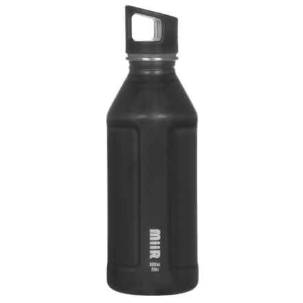 MiiR Single-Wall Water Bottle - 20 oz., BPA-Free Stainless Steel in Black - Closeouts