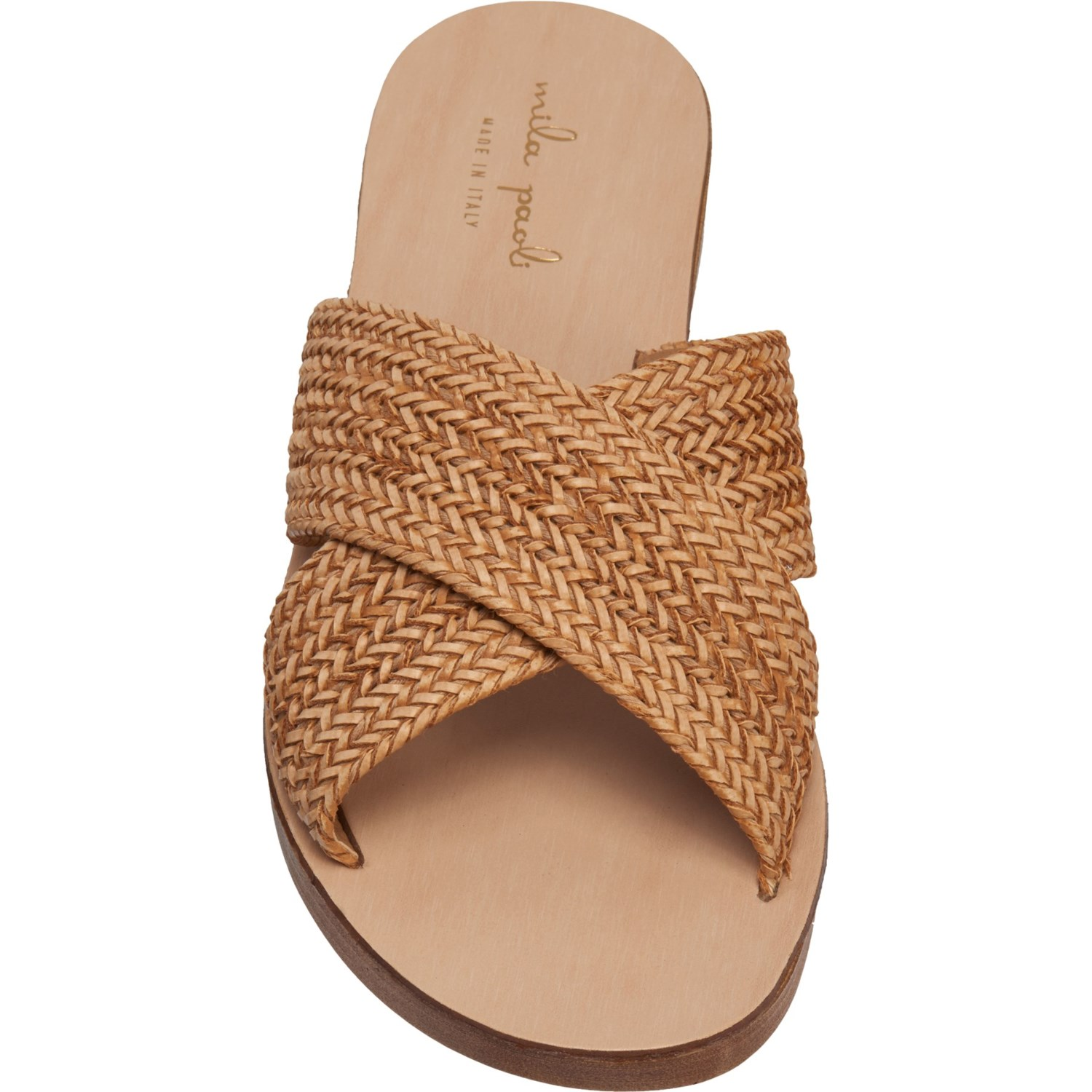 fd3574735fee MILA PAOLI Made in Italy Raffia Sandals (For Women) - Save 50%