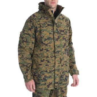 Military ECWCS Layering Jacket (For Men and Women) in Woodland Digital Camo