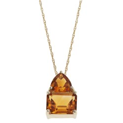 Millennium Creations Citrine 14K Gold Necklace in Citrine/14K Gold