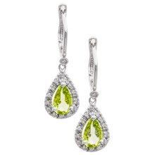 Millennium Creations Pear Gemstone Dangle Earrings - Sterling Silver in Peridot/Sterling Silver - Closeouts