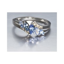 Millennium Creations Sterling Silver Ring - 10K White Gold in Tanzanite/10K White Gold - Closeouts