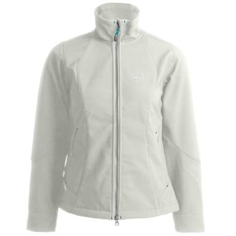 Millet Elbruse Jacket - Soft Shell (For Women) in B White/Castelrock