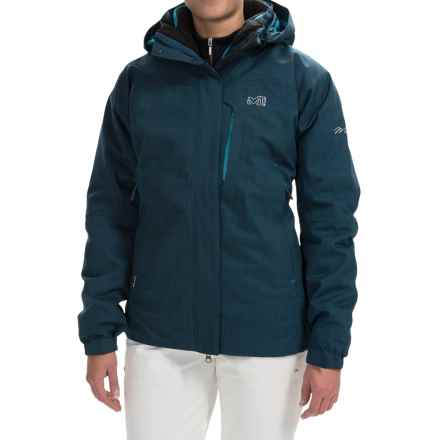 Millet Pobeda PrimaLoft® Jacket - 3-in-1, Waterproof, Insulated (For Women) in Heather Blue - Closeouts
