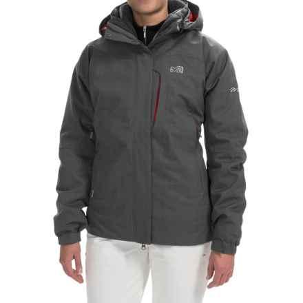 Millet Pobeda PrimaLoft® Jacket - 3-in-1, Waterproof, Insulated (For Women) in Heather Grey - Closeouts