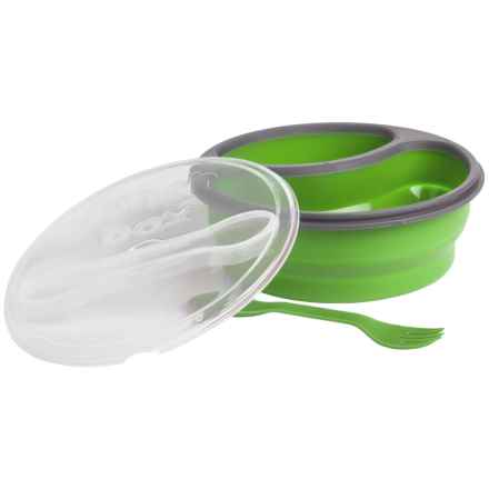 Mimo Style Double-Compartment Silicone Lunch Box Set in Green - Closeouts