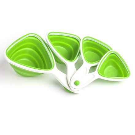 Mimo Style Silicone Collapsible Measuring Cups - Set of 4 in Green - Closeouts