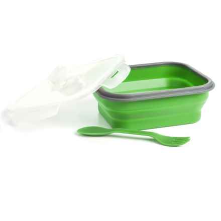 Mimo Style Single-Compartment Silicone Lunch Box Set in Green - Closeouts