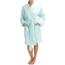 Mimosa by KayAnna Quilted Kimono Robe - Long Sleeve (For Women) in Spa Blue - Closeouts