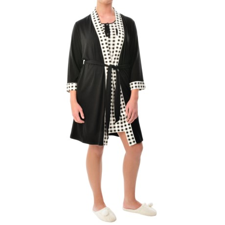 Mimosa by KayAnna Wrap Robe 3/4 Sleeve (For Women)