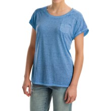 Mineral-Washed Pocket T-Shirt - Short Sleeve (For Women) in Blue - 2nds