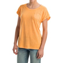 Mineral-Washed Pocket T-Shirt - Short Sleeve (For Women) in Gold - 2nds
