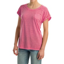 Mineral-Washed Pocket T-Shirt - Short Sleeve (For Women) in Pink - 2nds