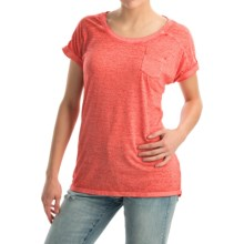 Mineral-Washed Pocket T-Shirt - Short Sleeve (For Women) in Rose - 2nds