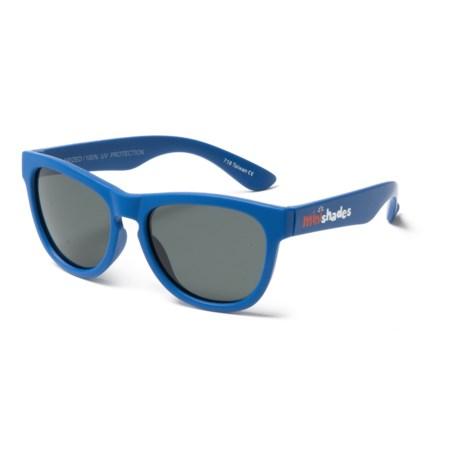 Mini Shades Classic Sunglasses - Polarized (For Kids) in Blue/Grey