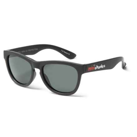 Mini Shades Classic Sunglasses - Polarized (For Kids) in Jet Black/Grey - Closeouts