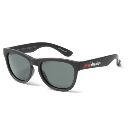 Mini Shades Classic Sunglasses - Polarized (For Kids) in Jet Black/Grey