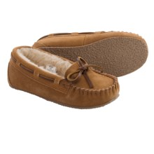 Minnetonka Allysse Jr. Trapper Moccassins (For Girls) in Cinnamon - Closeouts