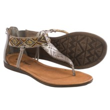 Minnetonka Antigua Sandals - Leather (For Women) in Pewter - Closeouts