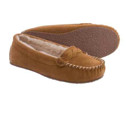Minnetonka Blakely Braided Slippers (For Women) in Cinnamon - Closeouts